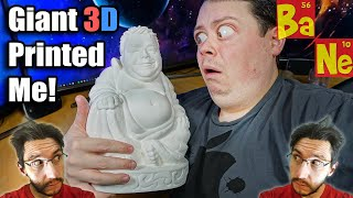 Giant 3D Printed Buddha but with my head - Buddhacules!