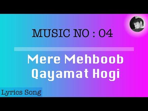 Mere Mehboob Qayamat Hogi | Lyrics with english subtitle