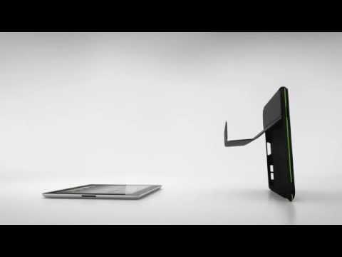 Miękka nakładka z podstawą dla nowego iPad/iPad2