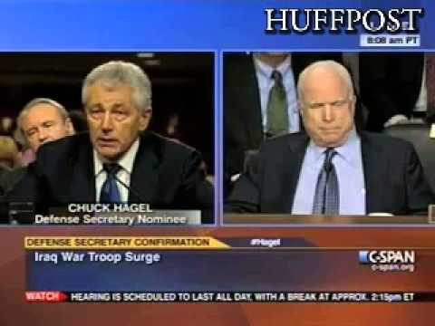 Hagel And McCain Clash Over Surge In Iraq