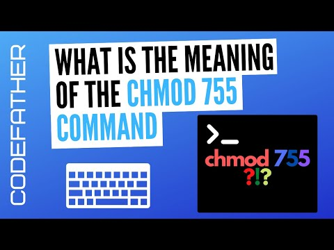 What is the meaning of the chmod 755 command?