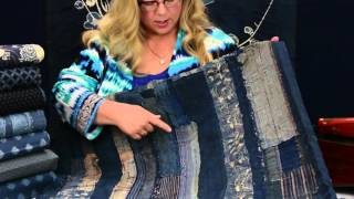 Japanese vintage boro quilts and indigo ikats, and faux ikats to make your own version of these beautiful indigo quilts.