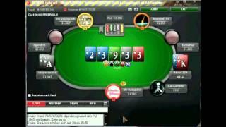 POKER LAG Auf POKERSTARS SNG 1,5$ (Pokerschule Deutsch Kommentiert) Teil 2