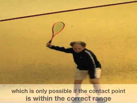 Squash technique video: characteristics of the forehand squash stroke