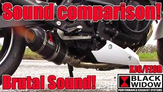 6. Yamaha XJ6 / FZ6R, Exhaust Sound Comparison. Black Widow Exhausts