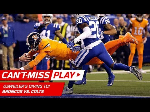 Video: Brock Osweiler's Diving TD to Cap Off Drive & Cut the Lead! | Can't-Miss Play | NFL Wk 15 Highlights