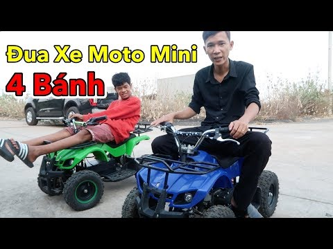 Lâm Vlog - Đua Xe Moto Mini 4 Bánh 50cc Chạy Xăng và Chạy Điện Giá 12 triệu - Thời lượng: 12 phút.