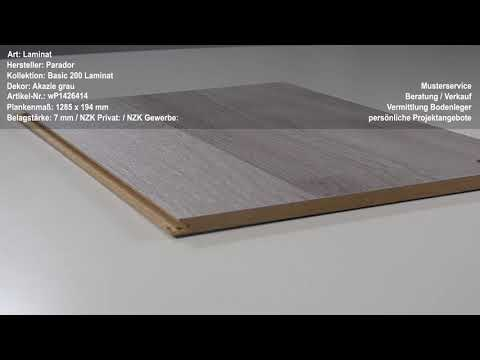 Parador Basic 200 Laminat Akazie grau hochwertig, 3-Stab