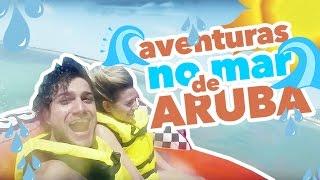 E começaram nossas aventuras aqui em Aruba e foi muuuuuito legal. Teve muita emoção no nosso passeio de boia e também no nosso por do sol na lancha!
