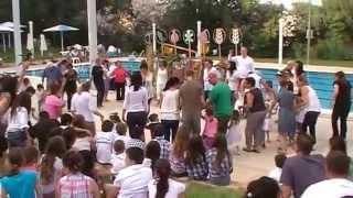 Kfar Giladi Israel  city photos gallery : Kfar Giladi Shavuot Holiday at pool MOV019