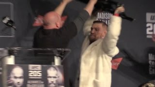 Video Conor McGregor & Eddie Alvarez Go Ballistic Over Chair Throwing Threat at UFC 205 Press Conference MP3, 3GP, MP4, WEBM, AVI, FLV Desember 2018