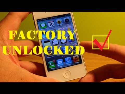 How To Tell If iPhone is Factory Unlocked 3G/3GS/4/4S/5