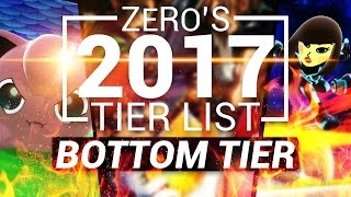 Competitive Super Smash Bros Wii U Tier List – Bottom Tier (TSM ZeRo)