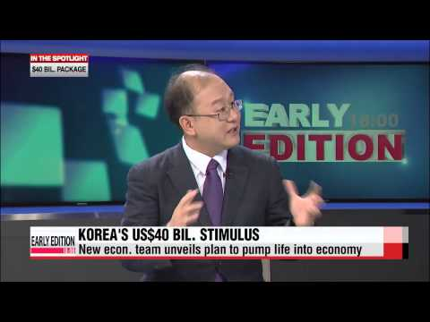 Stimulus - Let's get some expert analysis on the Korean government's latest stimulus package... Joining us live in the studio is Dr. Yang Junsok, professor of economics at the Catholic University of...