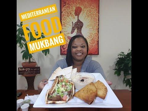 Mediterranean food Mukbang 먹방 (eating show) (видео)