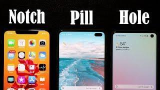 Galaxy S10+ vs iPhone Xs Max: Notch vs Hole (Display Comparison)