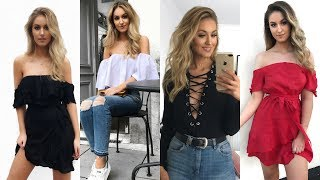 EXPAND FOR LINKS! SPRING / SUMMER TRY ON CLOTHING HAUL - In The Style, Hello Molly, Ebay, ASOS, Levi, Forever 21, Mango! EVERYTHING I ...