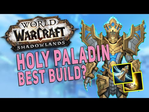 Shadowlands HOLY PALADIN Best Build? M+ Dungeon Gameplay - Kyrian Covenant & Shock Barrier Legendary
