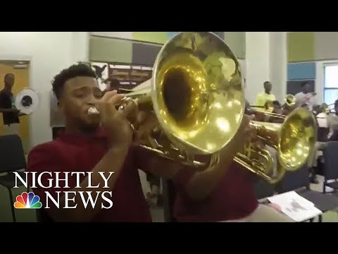 Those Who Serve: New Orleans Officers Mentoring Young People Through Music | NBC Nightly News