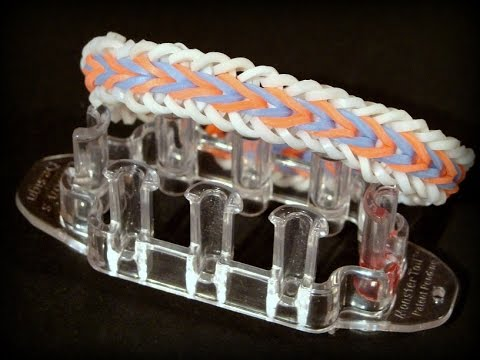 Rainbow Loom Monster Tail Armband / Fishtail Armband Var. 3 / Loom Bandz Anleitung deutsch