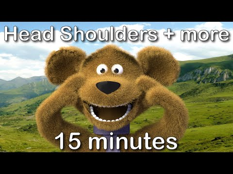 Head Shoulders Knees and Toes | 15 minutes compilation from tinyschool!