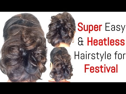 Beautiful & Super Easy hairstyles for Party, Wedding & Festival  Navratri Hairstyles Series Day 8
