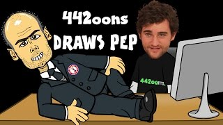 ✏️442oons Draws Pep - timelapse✏️ Football Cartoon