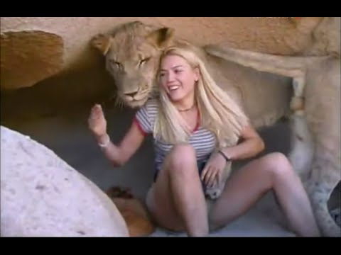 Girl Raised As A Bushman Playing With Lions & Cheetahs!