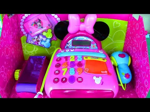 minnie - Hello! Watch this Disney Junior's Mickey Mouse Clubhouse Minnie Mouse Bow-tique Electronic Cash Register by IMC Toys Minnie Mouse Bow-tique Product Features:...