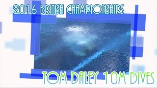 See all of Tom's individual 10M dives as he wins another British title. Next stop Rio!