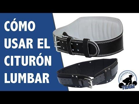 CÓMO USAR EL CINTURÓN LUMBAR