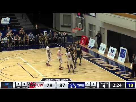 2015-02-07 TWU Men's Basketball Highlights vs Winnipeg