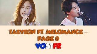 [VOSTFR/ROM/HAN] TAEYEON (태연) ft. MELOMANCE (멜로망스) 'PAGE 0'