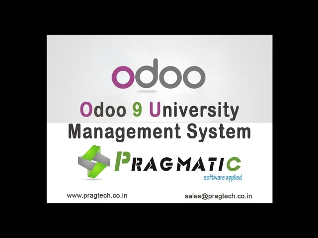 Odoo 9 University Management System