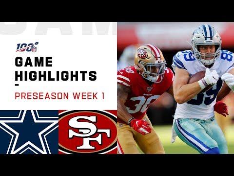 Cowboys vs. 49ers Preseason Week 1 Highlights | NFL 2019