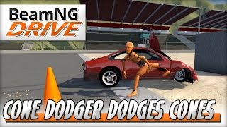 Dodger of Cones... and Camper Trailers - BeamNG DRIVE - Crash Test Dummy Mod