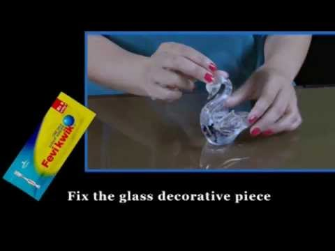 Fevikwik Uses: Fixing glass objects