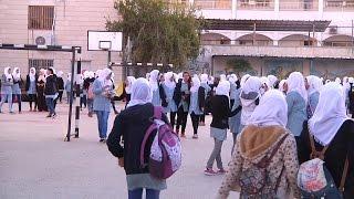 النشاط الصباحي في مدرسة بنات إبراهيم الخواجا الثانوية