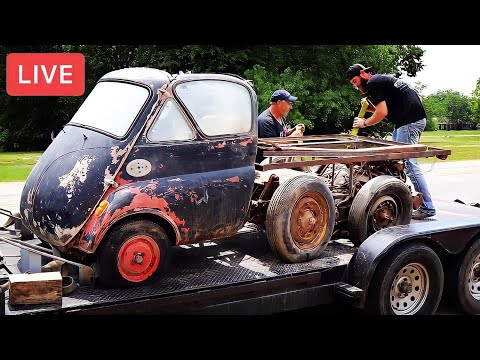 LIVE Will It Run 1957 BMW Isetta | Raw & Uncut | The Good, The Bad, And The Locked-Up | RESTORED