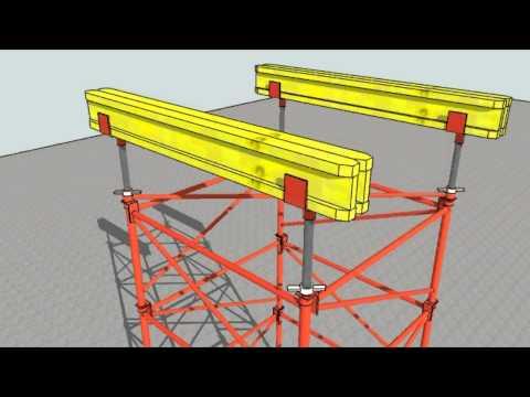 cimbra - Animación del proceso de montaje Cimbra PAL Mecanotubo, musica: Armada Music.