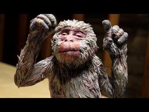 日本藝術家創造出的「真實動物雕塑」讓許多人嘖嘖稱奇,但竟然沒人能猜到原料是我們每天丟棄的東西!