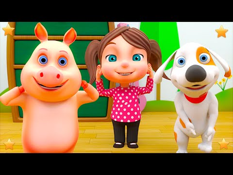 Head Shoulders Knees & Toes   Kindergarten Rhymes & Songs for Kids   Little Treehouse S03E104