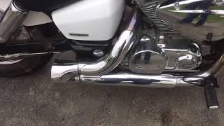 9. 2006 Honda Shadow Aero Exhaust Mod Sound (DIY Drag Pipes)