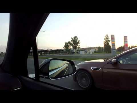 Tesla Model X ja BMW M5 kisalee kunnes…