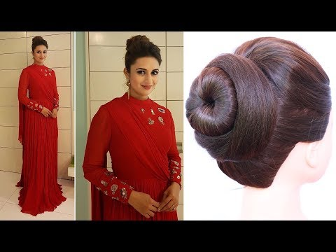 Short hair styles - Divyanka tripathi hairstyle  juda hairstyle for weddings, party, gown & lehnga  easy hairstyles