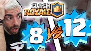 No vídeo de hoje mostro uma partida que joguei contra um nível 12 no clash royale com minha conta nível 8. canal secundário:...