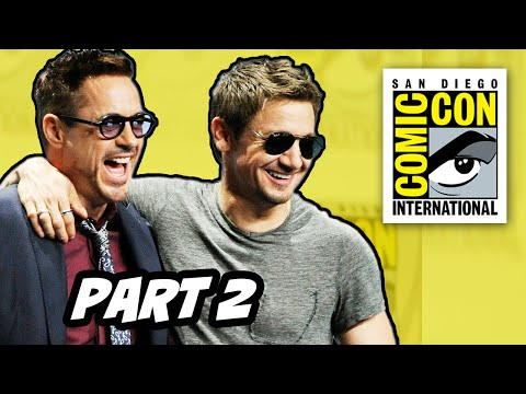 comic con - Marvel Comic Con 2014 Panel Part 2. Avengers 2 Age of Ultron Trailer, Robert Downey Jr, Quicksilver and Scarlet Witch, James Spader Ultron and The Vision ▻ http://bit.ly/AwesomeSubscribe...