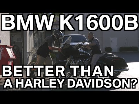 HARLEY DAVIDSON VS BMW K1600B - Reverse Test -  BMW Motorcycle Reviews