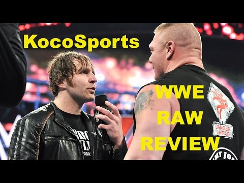 "KocoSports - ""WWE Monday Night Raw"" Review - 2/1/16 - (Brock Lesnar; Dolph Ziggler vs. Kevin Owens)"