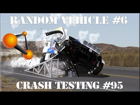 BeamNG Drive Alpha Pre Race Update Random Vehicle #6 Crash Testing #95 HD
